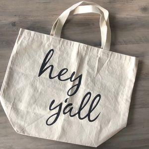 Handbags - Hey Y'all Canvas Tote